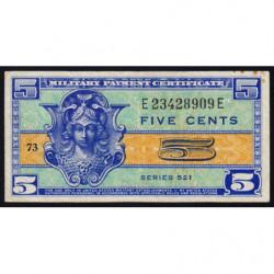 Etats Unis d'Amérique - Militaire - Pick M29 - 5 cents - Série 521 - 1954 - Etat : TTB-