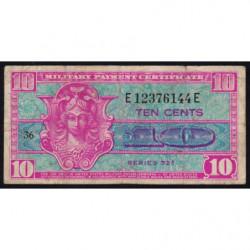 Etats Unis d'Amérique - Militaire - Pick M30 - 10 cents - Série 521 - 1954 - Etat : TB