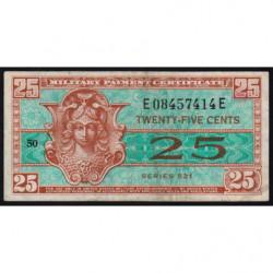 Etats Unis d'Amérique - Militaire - Pick M31 - 25 cents - Série 521 - 1954 - Etat : TB+