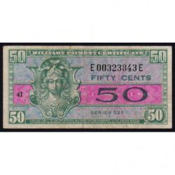 Etats Unis d'Amérique - Militaire - Pick M32 - 50 cents - Série 521 - 1954 - Etat : TB