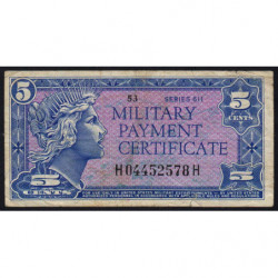 Etats Unis d'Amérique - Militaire - Pick M50 - 5 cents - Série 611 - 1964 - Etat : TB