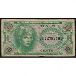 Etats Unis d'Amérique - Militaire - Pick M58 - 10 cents - Série 641 - 1965 - Etat : TB