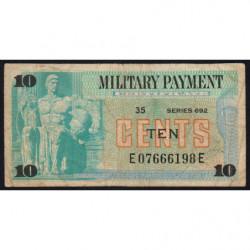 Etats Unis d'Amérique - Militaire - Pick M92 - 10 cents - Série 692 - 1970 - Etat : TB