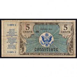 Etats Unis d'Amérique - Militaire - Pick M15 - 5 cents - Série 472 - 1948 - Etat : TB-