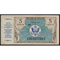 Etats Unis d'Amérique - Militaire - Pick M15 - 5 cents - Série 472 - 1948 - Etat : SUP
