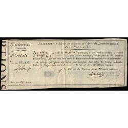 Rescription 53a - 25 francs - 21 nivôse an 4 - Etat : SUP