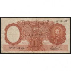 Argentine - Pick 277_1 - 100 pesos - Série F - 1967 - Etat : TB-