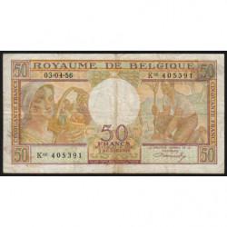 Belgique - Pick 133b - 50 francs - 03/04/1956 - Etat : TB
