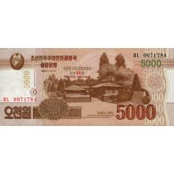 Corée du Nord - Pick CS 18_1 - 5'000 won - 2013 - Commémoratif - Etat : NEUF