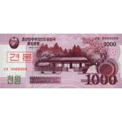 Corée du Nord - Pick 64s - 1'000 won - 2008 (2009) - Spécimen - Etat : NEUF