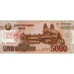 Corée du Nord - Pick 67s - 5'000 won - 2013 - Spécimen - Etat : NEUF
