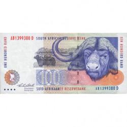 Afrique du Sud - Pick 126a - 100 rand - 1993 - Etat : TTB+