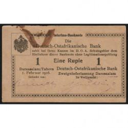 Afrique Orientale Allemande - Pick 19 - 1 rupie - Série K2 - 01/02/1916 - Etat : TTB