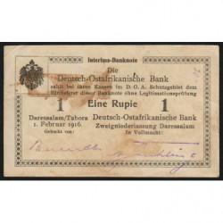 Afrique Orientale Allemande - Pick 19 - 1 rupie - Série S2 - 01/02/1916 - Etat : TTB