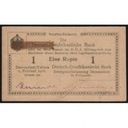 Afrique Orientale Allemande - Pick 19 - 1 rupie - Série E3 - 01/02/1916 - Etat : TTB+