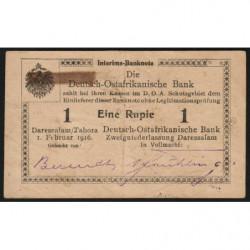Afrique de l'Est Allemande - Pick 20a - 1 rupie - Série K3 - 01/02/1916 - Etat : TTB