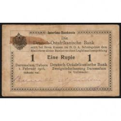 Afrique de l'Est Allemande - Pick 20a - 1 rupie - Série S3 - 01/02/1916 - Etat : TB+