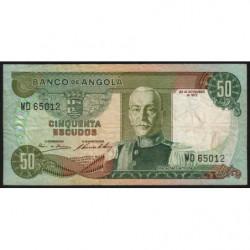 Angola - Pick 100 - 50 escudos - Série WD - 24/11/1972 - Etat : TB