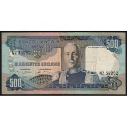 Angola - Pick 102 - 500 escudos - 24/11/1972 - Etat : TB+