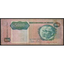 Angola - Pick 130a - 5'000 kwanzas - 04/02/1991 - Etat : TB