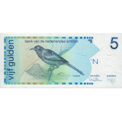 Antilles Néerlandaises - Pick 22a - 5 gulden - 31/03/1986 - Etat : NEUF