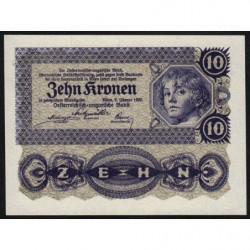 Autriche - Pick 75 - 10 kronen - 02/01/1922 - Etat : NEUF
