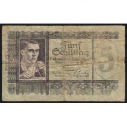 Autriche - Pick 121 - 5 shilling - 04/09/1945 - Etat : B-