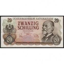 Autriche - Pick 136 - 20 shilling - 02/07/1956 - Etat : TTB