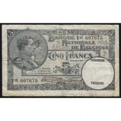 Belgique - Pick 97b - 5 francs - 21/04/1931 - Etat : TB