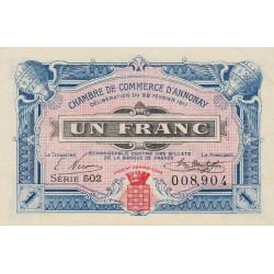 Annonay - Pirot 11-20 - 1 franc - 1917 - Etat : SPL