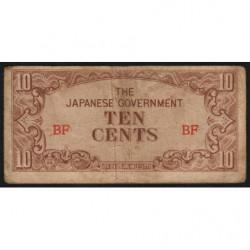 Birmanie - Pick 11a - 10 cents - Série BF - 1942 - Etat : TB-