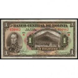 Bolivie - Pick 118_1 - 1 boliviano - Loi 1928 - Etat : TTB