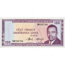 Burundi - Pick 29c_3 - 100 francs - 01/05/1993 - Etat : NEUF
