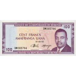 Burundi - Pick 29c_3 - 100 francs - Série DW - 01/05/1993 - Etat : NEUF