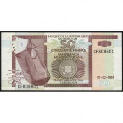 Burundi - Pick 36b - 50 francs - Série CF - 05/02/1999 - Etat : pr.NEUF