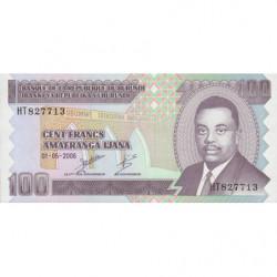 Burundi - Pick 37e - 100 francs - 01/05/2006 - Etat : NEUF
