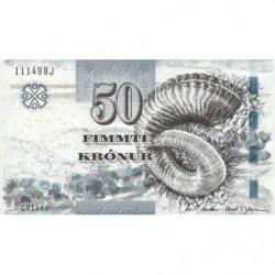 Féroé (iles) - Pick 29 - 50 krónur - Série C0 - 2011 - Etat : NEUF