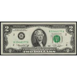 Etats Unis d'Amérique - Pick 461 - 2 dollars - 1976 - B : New York - Etat : NEUF