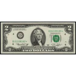 Etats Unis d'Amérique - Pick 461 - 2 dollars - 1976 - D : Cleveland - Remplacement - Etat : NEUF
