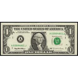 Etats Unis d'Amérique - Pick 496a - 1 dollar - 1995 - A : Boston - Etat : SUP+