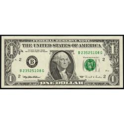 Etats Unis d'Amérique - Pick 496a - 1 dollar - 1995 - B : New York - Etat : SUP
