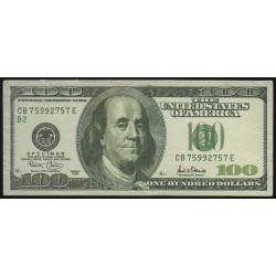 Etats Unis d'Amérique - 100 dollars - 2001 - B : New York - Billet fantaisie - Etat : TTB