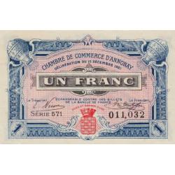 Annonay - Pirot 11-22 - 1 franc - 1921 - Etat : SPL