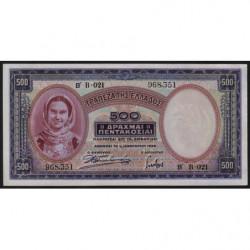 Grèce - Pick 109a - 500 drachmai - 01/01/1939 - Etat : pr.NEUF