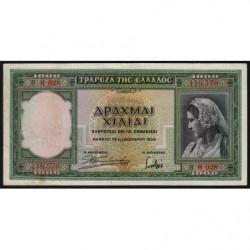 Grèce - Pick 110 - 1'000 drachmai - 01/01/1939 - Etat : TTB