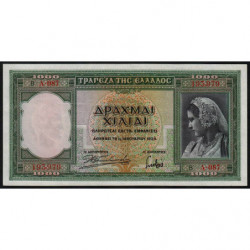 Grèce - Pick 110 - 1'000 drachmai - 01/01/1939 - Etat : SPL