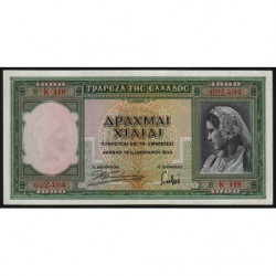 Grèce - Pick 110 - 1'000 drachmai - 01/01/1939 - Etat : SUP+