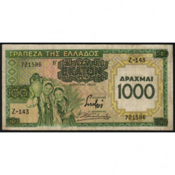 Grèce - Pick 111 - 1'000 drachmai - 01/01/1939 - Etat : TB+