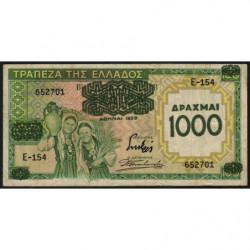 Grèce - Pick 111 - 1'000 drachmai - 01/01/1939 - Etat : TTB