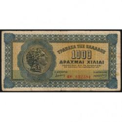 Grèce - Pick 117b_3 - 1'000 drachmai - 01/10/1941 - Etat : TB-